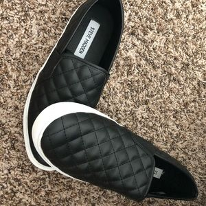 Steve Madden Quilted Slip-on Leather Sneakers 9